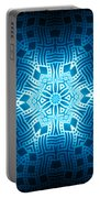 Fractal Snowflake Pattern 2 Portable Battery Charger