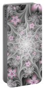 Fractal Soft Flowers Portable Battery Charger