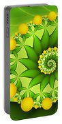 Fractal Sweet Yellow Fruits Portable Battery Charger