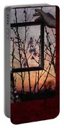 Framed Cherry Blossoms - Featured In Comfortable Art And Nature Groups Portable Battery Charger