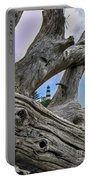 Framed Lighthouse Portable Battery Charger by Robert Bales