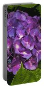 Framed Purple Blue Hydrangea Blossom Portable Battery Charger