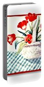 Framed Tulips Portable Battery Charger