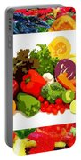 Framed Veggies Portable Battery Charger