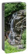 Framed Waterfalls On Mount Rainier Portable Battery Charger