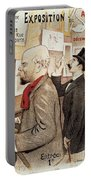 France Paris Poster Of Paul Verlaine And Jean Moreas Portable Battery Charger