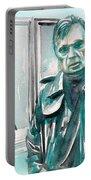 Francis Bacon Watercolor Portrait.3 Portable Battery Charger
