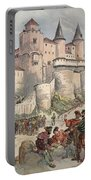 Francis I Held Prisoner In A Tower Portable Battery Charger