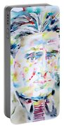Francis Picabia - Watercolor Portrait Portable Battery Charger