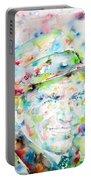 Frank Sinatra - Watercolor Portrait.1 Portable Battery Charger