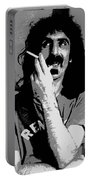 Frank Zappa - Chalk And Charcoal Portable Battery Charger by Joann Vitali