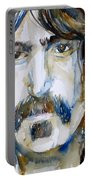 Frank Zappa Watercolor Portrait.2 Portable Battery Charger