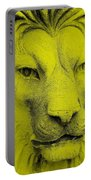 Frankie Lion Yellow Portable Battery Charger