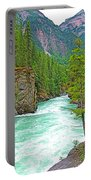 Fraser River Beyond Overlander Falls Along Yellowhead Highway-bc Portable Battery Charger