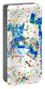 Fred Astaire And Ginger Rogers Watercolor Portrait Portable Battery Charger