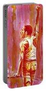Freddie Mercury Singing Portrait.3 Portable Battery Charger