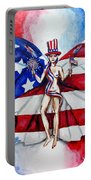 Free As Independence Day Portable Battery Charger by Shana Rowe Jackson