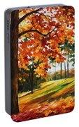 Freedom Of Autumn - Palette Knife Oil Painting On Canvas By Leonid Afremov Portable Battery Charger