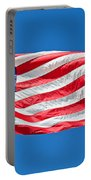 Freedom American Flag Art Prints Portable Battery Charger