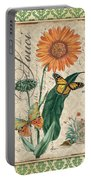 French Botanical Damask-a Portable Battery Charger