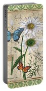 French Botanical Damask-d Portable Battery Charger