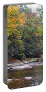 French Broad River In Fall Portable Battery Charger