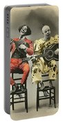 French Clown Musicians Vintage Art Reproduction Tint Portable Battery Charger