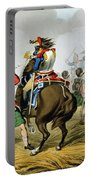 French Cuirassiers At The Battle Portable Battery Charger by John Augustus Atkinson