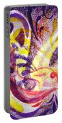 French Curve Abstract Movement II Portable Battery Charger