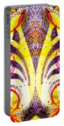 French Curve Abstract Movement Vi Mystic Flower Portable Battery Charger