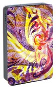 French Curve Abstract Movement Vii Happy Trio Portable Battery Charger