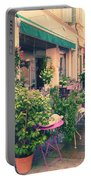 French Floral Shop Portable Battery Charger