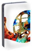 French Horn - Colorful Music By Sharon Cummings Portable Battery Charger