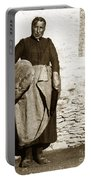French Lady With A Very Large Bread France 1900 Portable Battery Charger