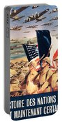 French Propaganda Poster Published In Algeria From World War II 1943 Portable Battery Charger
