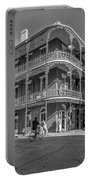 French Quarter Afternoon Bw Portable Battery Charger by Steve Harrington
