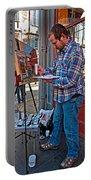 French Quarter Artist Portable Battery Charger by Steve Harrington