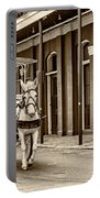 French Quarter Carriage Ride Sepia Portable Battery Charger