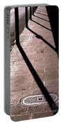 French Quarter Sidewalk Shadows New Orleans Portable Battery Charger