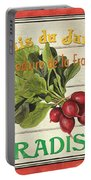 French Vegetable Sign 1 Portable Battery Charger by Debbie DeWitt