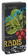 French Veggie Labels 3 Portable Battery Charger by Debbie DeWitt