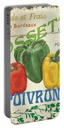 French Veggie Sign 4 Portable Battery Charger