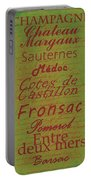French Wines - 4 Champagne And Bordeaux Region Portable Battery Charger
