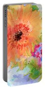 Fresh Flowers Portable Battery Charger