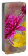Fresh Flowers Painted Portable Battery Charger