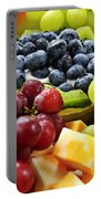 Fresh Fruits And Cheese Portable Battery Charger