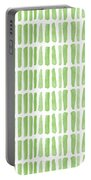 Fresh Grass- Abstract Pattern Painting Portable Battery Charger by Linda Woods
