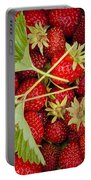 Fresh Picked Strawberries Portable Battery Charger