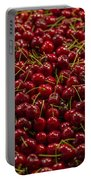 Fresh Red Cherries Portable Battery Charger