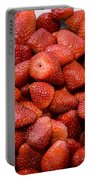 Fresh Ripe Strawberries  Portable Battery Charger